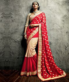Georgette Saree with Blouse Rs.4999.