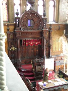 Eldridge St. Synagogue - Interior - Before restoration. As it was for 80 years. NYC
