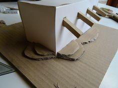 Minimaquettes proces Materiaal: hout, karton en papier