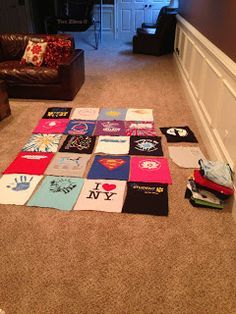 How to make a T-shirt Quilt. I've been wanting to do something with my sons old important thirst.