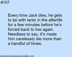 """janto-x-kurtcoblaine: """" theteaboyandthetimeagent: """" torchwood-headcanon: """" Submitted by anonymous """" SOMEONE WRITE THIS """" """" 13th Doctor, Twelfth Doctor, Captain Jack Harkness, John Barrowman, Rory Williams, Funny Tattoos, Torchwood, Sherlock Bbc, Dr Who"""