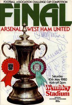 Arsenal Fc, Arsenal Official, Arsenal Football, West Ham Players, Challenge Cup, Sir Alex Ferguson, Fa Cup Final, Wembley Stadium, Football Program