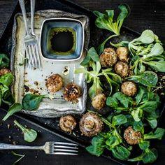 Nüsslisalat mit knusprigen Gewürz-Pilzen   Gemüsegerichte   coop@home