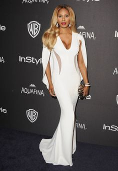 Laverne Cox at The Golden Globes 2016 After Party