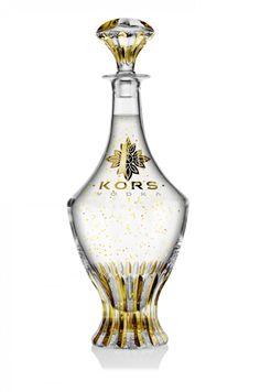 Kors Vodka ($24,500) comes packaged in bottles hand-painted in 24-karat gold.