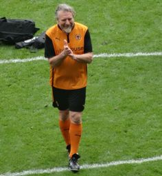Robert Plant   playing in charity football/soccer game   5 May 2014