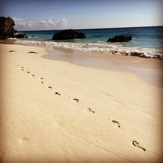 Only your footprints #bermudadreaming
