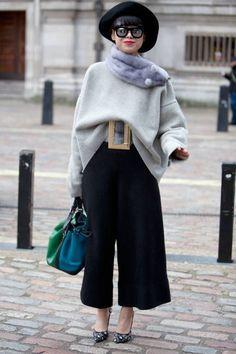 Cómo llevar Culottes en Invierno