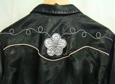 VTG MONTICELLO WESTERN COWBOY SHIRT DRESS SNAP FRONT ROCKABILLY RODEO SZ: L USA #Monticello #Western
