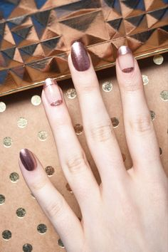 Step 6: Finish with a clear top coat. | Here's An Easy Way To DIY Negative Space Nail Art