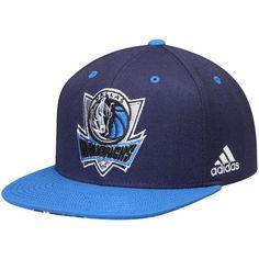 37e61bbe1b6 Men s adidas Navy Blue Dallas Mavericks On-Court Adjustable Snapback Hat