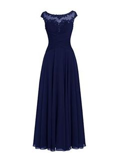 Dresstells® Long Chiffon Scoop Prom Dress with Appliques Wedding Dress Evening…