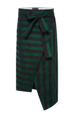 Bi Color Striped Ottoman Skirt by ROCHAS for Preorder on Moda Operandi
