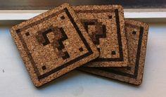 8-bit Cork Coasters