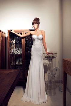 Julie Vino- collection 2012-2013- long corset wedding dress