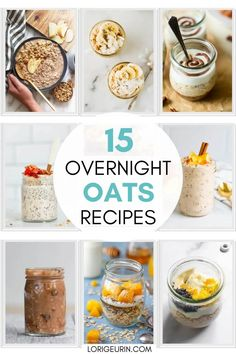 Looking for quick breakfast ideas? Here are 15 easy overnight oats recipes you can make in a jar that are healthy and oh so yummy! Simplify your life and morning routine with these simple, healthy recipes. #overnightoats Chocolate Overnight Oats, Easy Overnight Oats, Good Morning Breakfast, Breakfast Ideas, Overnight Oats Benefits, Oats Recipes, Healthy Recipes, Delicious Breakfast Recipes, Happy Foods