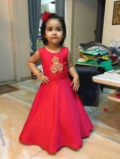 73519f154b49 Kids Indian Wear, Baby Dress Design, Kids Frocks, Frocks For Girls, Little