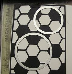 placement of circle die cuts to create a Soccer Ball  for your card ...
