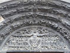 tympanum of central portal of Basilica of St Denis, Paris