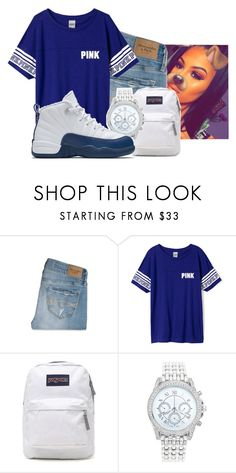 """""""frenchchchchchhchc blue"""" by gvlden-bvbx ❤ liked on Polyvore featuring Abercrombie & Fitch, Victoria's Secret, JanSport, Lane Bryant and NIKE"""