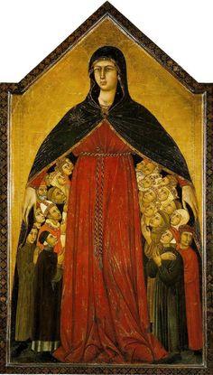 Simone Martini and Lippo Memmi, Madonna della Misericordia, 1308-10, Siena, Pinacoteca Nazionale.