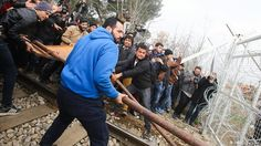 Chaos and desperation at the Greek-Macedonian border Tensions are rising in Idomeni with more than 7,000 refugees - mainly from Syria and Iraq - trapped between Greece and Macedonia. When refugees hurled stones and broke a fence, police fired tear gas.