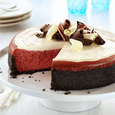 New York-Style Red Velvet Cheesecake from Land O'Lakes