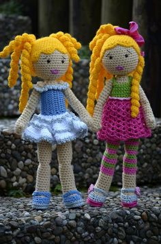 Ellen and Chiara by Lenekie, via Flickr (Crochet Lily Dolls).
