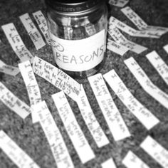 """This is how I was asked out by my best friend. ❤ He took me out to dinner for my birthday and before he dropped me off he gave me a jar filled with 50 Reasons why he loved me. Right before he left he said he forgot one. He pulled it out of his pocket and on it it said """"I love you. Will you be my girlfriEND until the END?"""" What girl would ever say no to that. So any guys trying to get a girl's attention, take some notes. :)"""