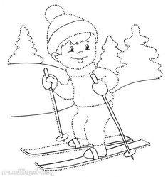Розфарбування. Зима Sports Coloring Pages, Colouring Pages, Coloring Pages For Kids, Winter Activities For Kids, Preschool Activities, Simple Car Drawing, Xmas Drawing, Winter Drawings, Christmas Quilt Patterns