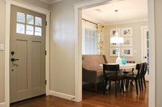 Door Color is Elephant Skin by Behr - Chic Little House