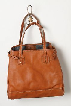 Of course Anthropologie has the huge worn leather tote that I've been searching for...