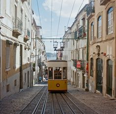 #ridecolorfully and hop onto the streetcar in Lisbon, Portugal