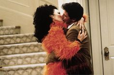 The Nanny ~ Fran Fine (Fran Drescher) and Maxwell Sheffield (Charles Shaughnessy) kiss. #TV #Television