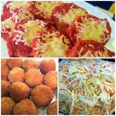 Chicken Parm, Sicilian Risotto Balls & Coleslaw Risotto Balls, Sicilian, Coleslaw, Chicken, Ethnic Recipes, Kitchen, Food, Cooking, Coleslaw Salad