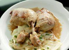 Teď vaří šéf !-KACHNÍ KONFIT S KARAMELIZOVANÝM ZELÍM Meat, Chicken, Food, Essen, Meals, Yemek, Eten, Cubs