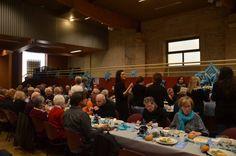 Une repas festif pour une partie des pensionnaires de l'EHPAD.