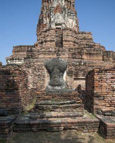 Wat Phra Ram Buddha Image Torso by Gerry Gantt Thailand Photos, India Travel, Office Decor, Fine Art America, Buddha, Reflection, Wall Art, Places, Garden