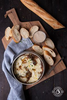 Porter Caramelized Onion and Brie Dip