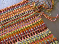Moss Stitch Crocheted Afghan