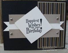 Masculine Birthday by chris'inkin - Cards and Paper Crafts at Splitcoaststampers by Gerri Fstone