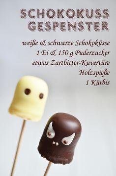 Rezept für die Halloween-Party: Schokokuss-Gespenster (www.rheintopf.com) #rezept #recipe #halloween
