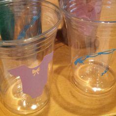Favorite  item of the day. Lures or lace gender reveal party cups #lures #lace #lures or lace #genderreveal #babyshower #baby #itsaboy #itsagirl #showerdecor #tiptopsupply4u #genderrevealparty