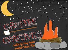 Creekside Teacher Tales: Campfire Craftivity FREEBIE teacher tale, creeksid teacher