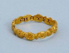 16th century Tudor gold posy ring, ca 1560.