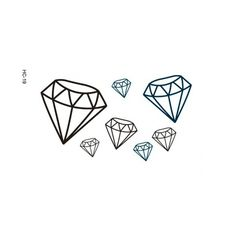4 Pcs Creative 3D Diamonds Temporary Tattoo Stickers Free Shipping