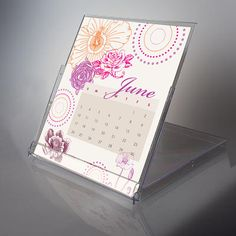 Print Desk Calendar/ Repurposed Cd Holder