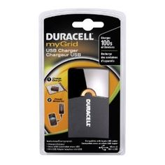 Duracell Mygrid Usb Charger by Duracell. $19.00. From the Manufacturer                                          With drop-and-go charging on myGrid, the myGrid USB Charger offers hours of portable power for hundreds of handheld devices. Power up MP3 players, eReaders, cell phones and other devices with mini-USB or micro-USB ports using the included cords or the cord that came with your device. The myGrid USB Charger is Smart Power simplified.                        ...
