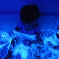 Edible Glowing Spiderwebs Sensory Play