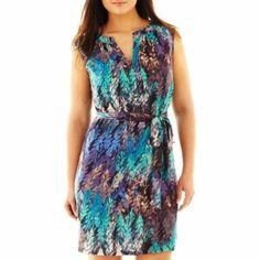 Fynn & Rose Split-Neck Dress - Plus  found at @JCPenney